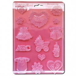 Plastic Mold - Baby Classic / 12 elements