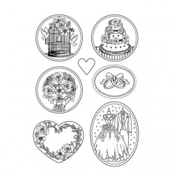 Plastic Mold -  Wedding / 7 elements
