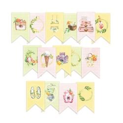 Paper die cut garland - Sunshine / 15pcs