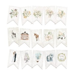 Paper die cut garland -Truly Yours / 15pcs