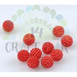 Pearl Beads 10 mm - RED