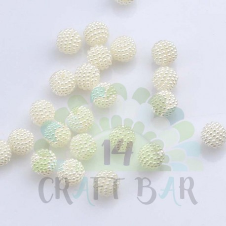 Pearl Beads 10 mm - WHITE