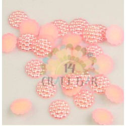 Pearl Beads Flatback 14 mm - PALE CORAL