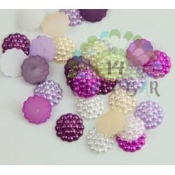 Pearl Beads Flatback 14 mm - RANDOM MIX