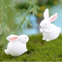 Mini Rabbit Resin Miniature /2pcs