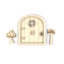 PLYWOOD - Fairy Garden Door  /3D