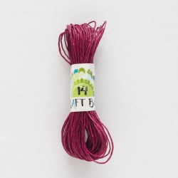 Natural Hemp Cord/BURGUNDY-WINE