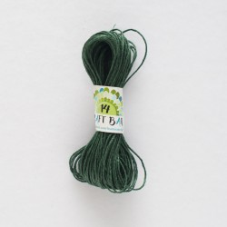 Natural Hemp Cord/DARK GREEN