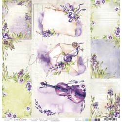 Scrapbooking Paper- 12x12  SHEET OF EXTRAS TO CUT/ Creative Reverie