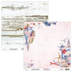 Scrapbooking Paper- Die Cut Sheet - MARINA 09