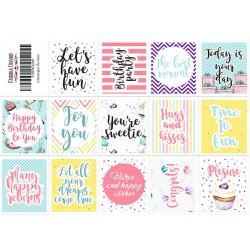 Sticker sheet - Happy /14 pcs