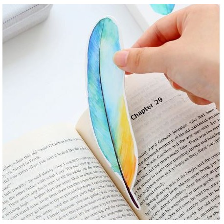 Paper Die Cuts/ Bookmark  - Colorful Feather