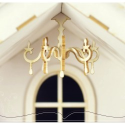 Chipboard - Mini chandelier/3D