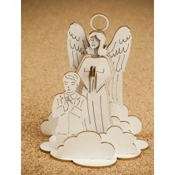 Chipboard -Guardian Angel with a boy/3D