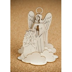 Chipboard -Guardian Angel with a girl /3D