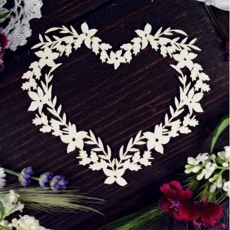 Chipboard - Summer Frame /heart