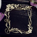 Chipboard - Squere frame with lilies