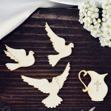 Chipboard - Symbols of baptism or confirmation/4pcs