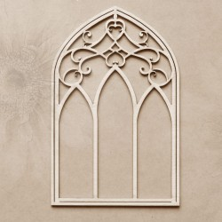 Chipboard - Castle window /stained glass