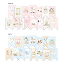 Paper die cut garland - BABY JOY/ 15pcs