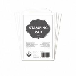 Scrapbooking Paper - STAMPING PAD / white