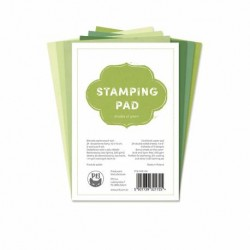 Scrapbooking Paper - STAMPING PAD / shades of green