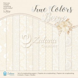 Scrapbooking Papers - TRUE COLORS / BEIGE