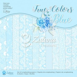 Scrapbooking Papers - TRUE COLORS /BLUE