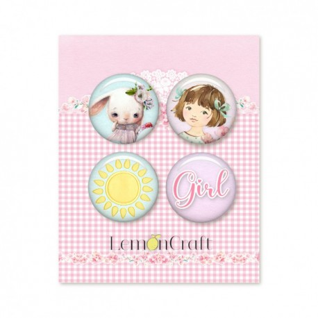Adhesive Badges / Heart Painted