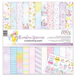 Scrapbooking Papers - Rainbow Unicorn (12x12)