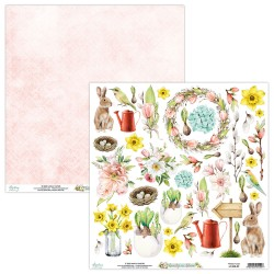 Scrapbooking Paper- 12x12 Sheet -  BEAUTY IN BLOOM 09