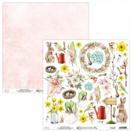 Scrapbooking Paper- 12x12 Sheet -  BEAUTY IN BLOOM 09