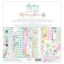 Scrapbooking Papers - HAPPY PLACE  - Pad 12 x 12