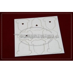 Chipboard - Body with Heart - set