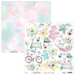 Scrapbooking Paper- 12x12 Sheet - HAPPY PLACE 09