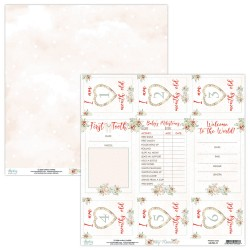 Scrapbooking Paper- 12x12 Sheet - TINY MIRACLE 011
