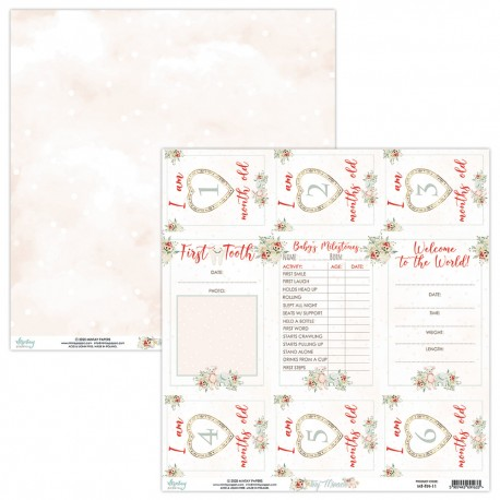 Scrapbooking Paper- 12x12 Sheet - TINY MIRACLE 011