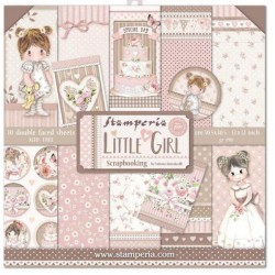 STAMPERIA Scrapbooking Paper - LITTLE GIRL (12x12)