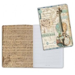 Art journal /Notebook A5 - MUSIC VIOLIN