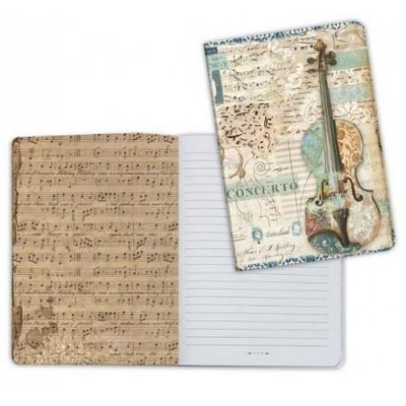 Art journal /Notebook A5 - MUSIC VIOLIN