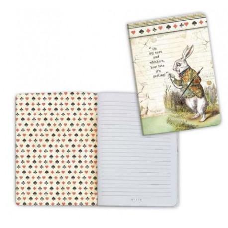 Art journal /Notebook A6 - ALICE WHITE RABBIT
