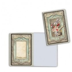 Art journal /Notebook A6 - ALICE WHITE RABBIT 2