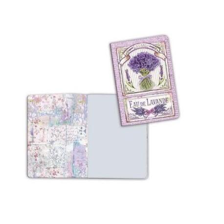 Art journal /Notebook A6 - LAVENDER BOUQUET