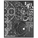 Thick stencil -Stamperia /Cosmos astronomy and numbers
