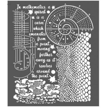 Thick stencil -Stamperia /Cosmos python