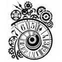 Thick stencil -Stamperia /Clock and mechanisms
