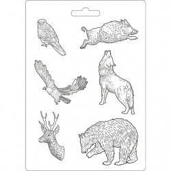 Plastic Mold -  Forest animal power / 6 elements