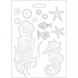 Plastic Mold -  Sea World / 12 elements