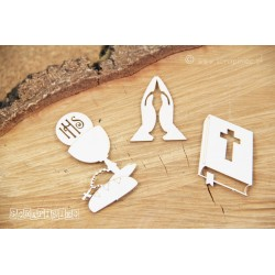 Chipboard - Bible/3pcs