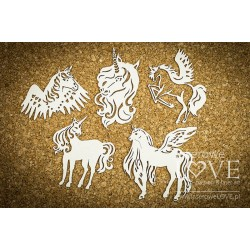 "Chipboard -  Unicorns ""A""  / 6pcs"